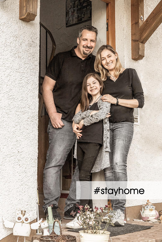 Familienfoto, stayhome,