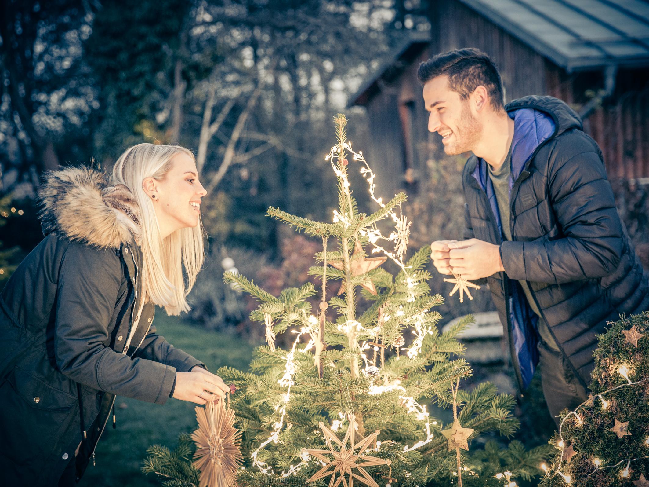 Weihnachten Fotoshooting im Gartenatlier