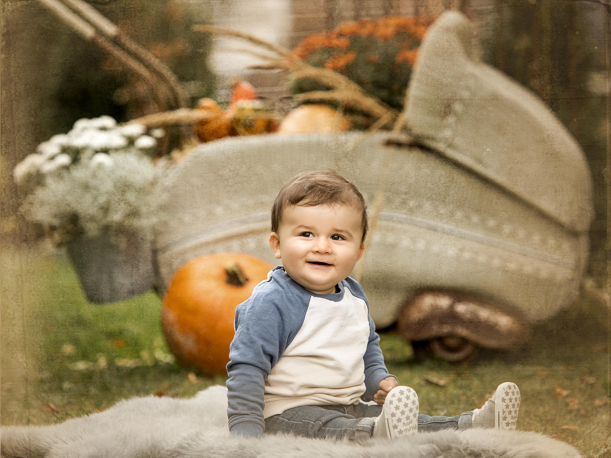 Babyfotos im Gartenatlier, Herbst 2020