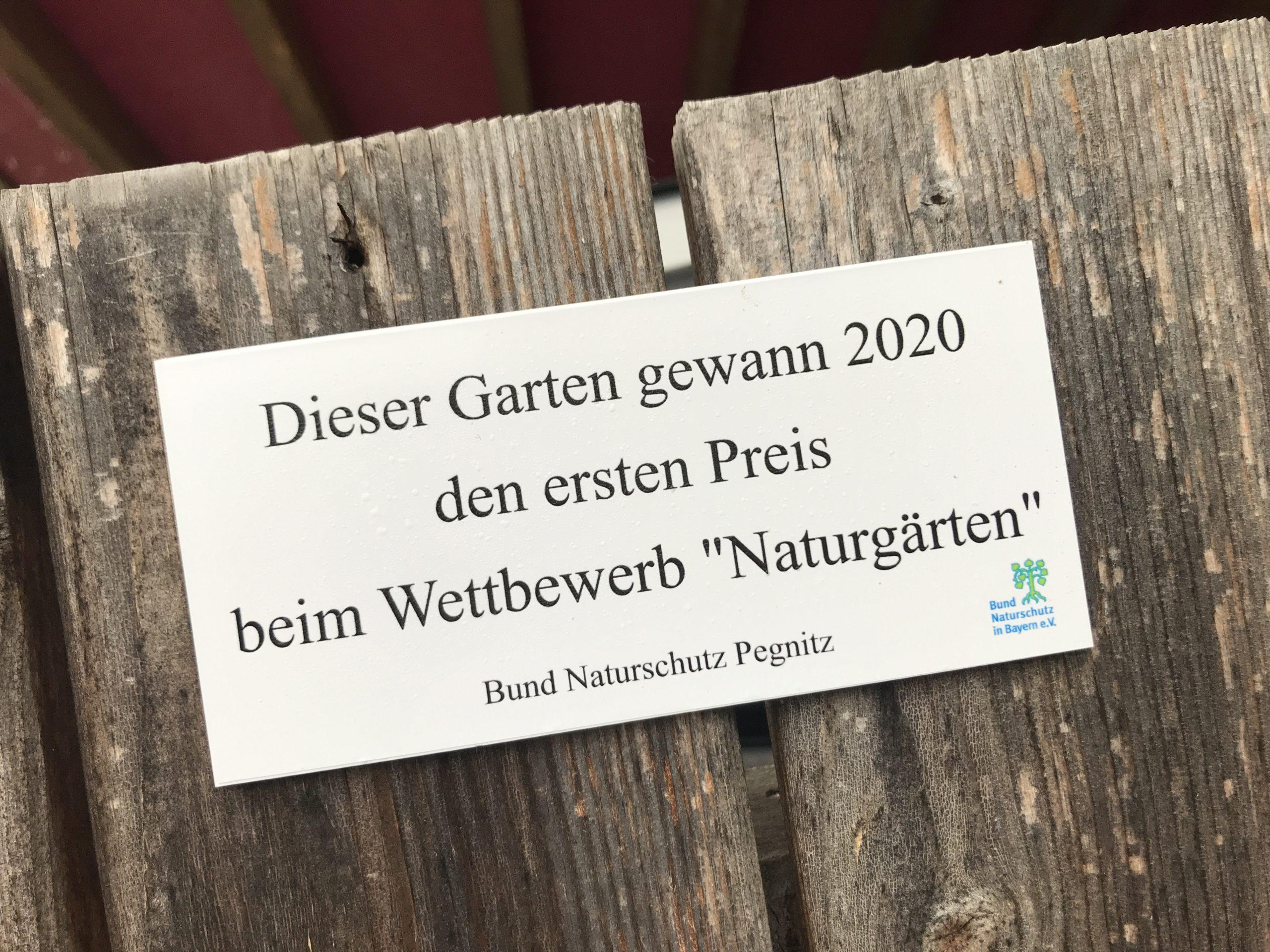 Auszeichnung vom Bund Naturschutz, Pegnitz