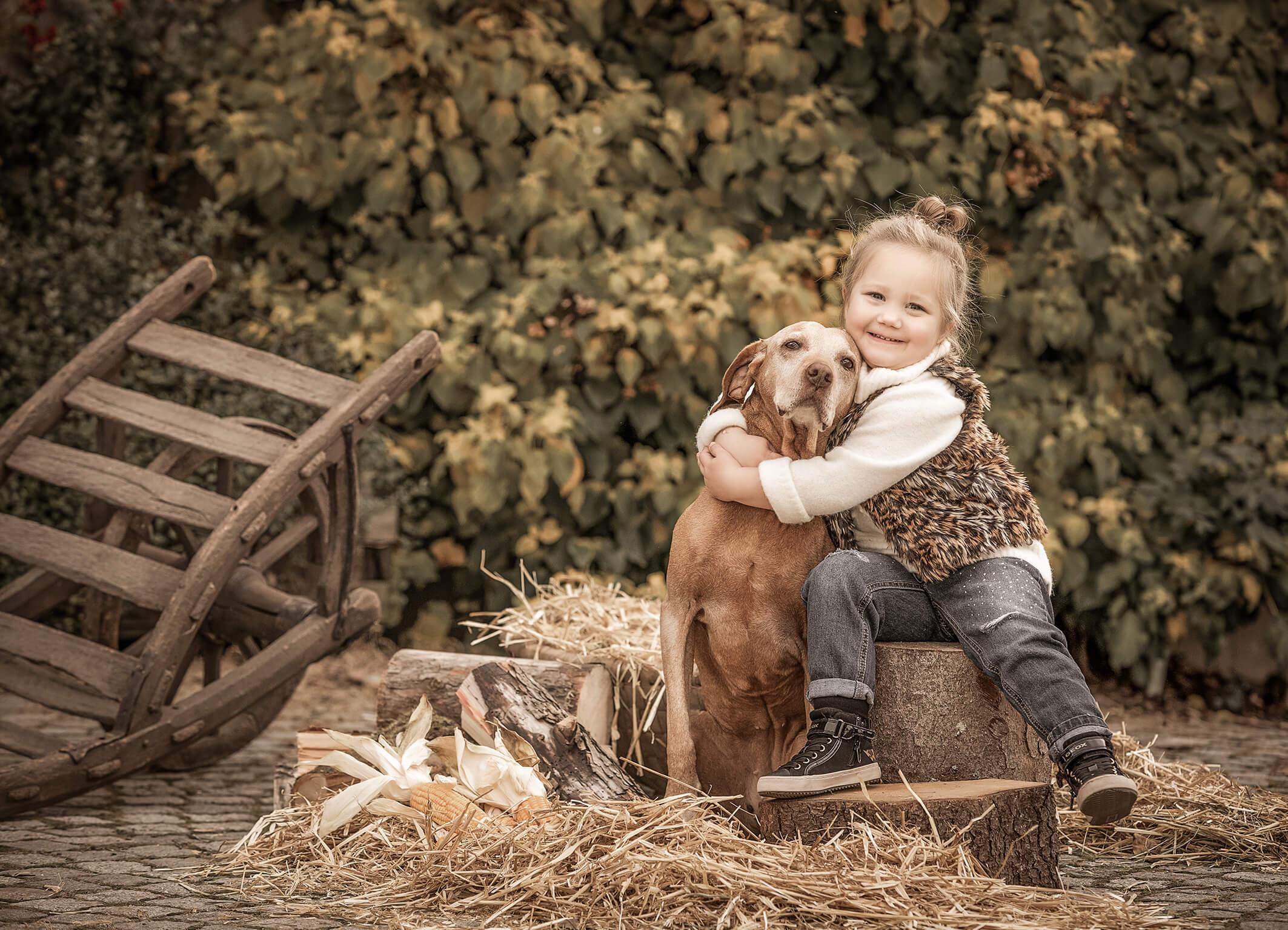 Fotoshooting auf dem Bauernhof