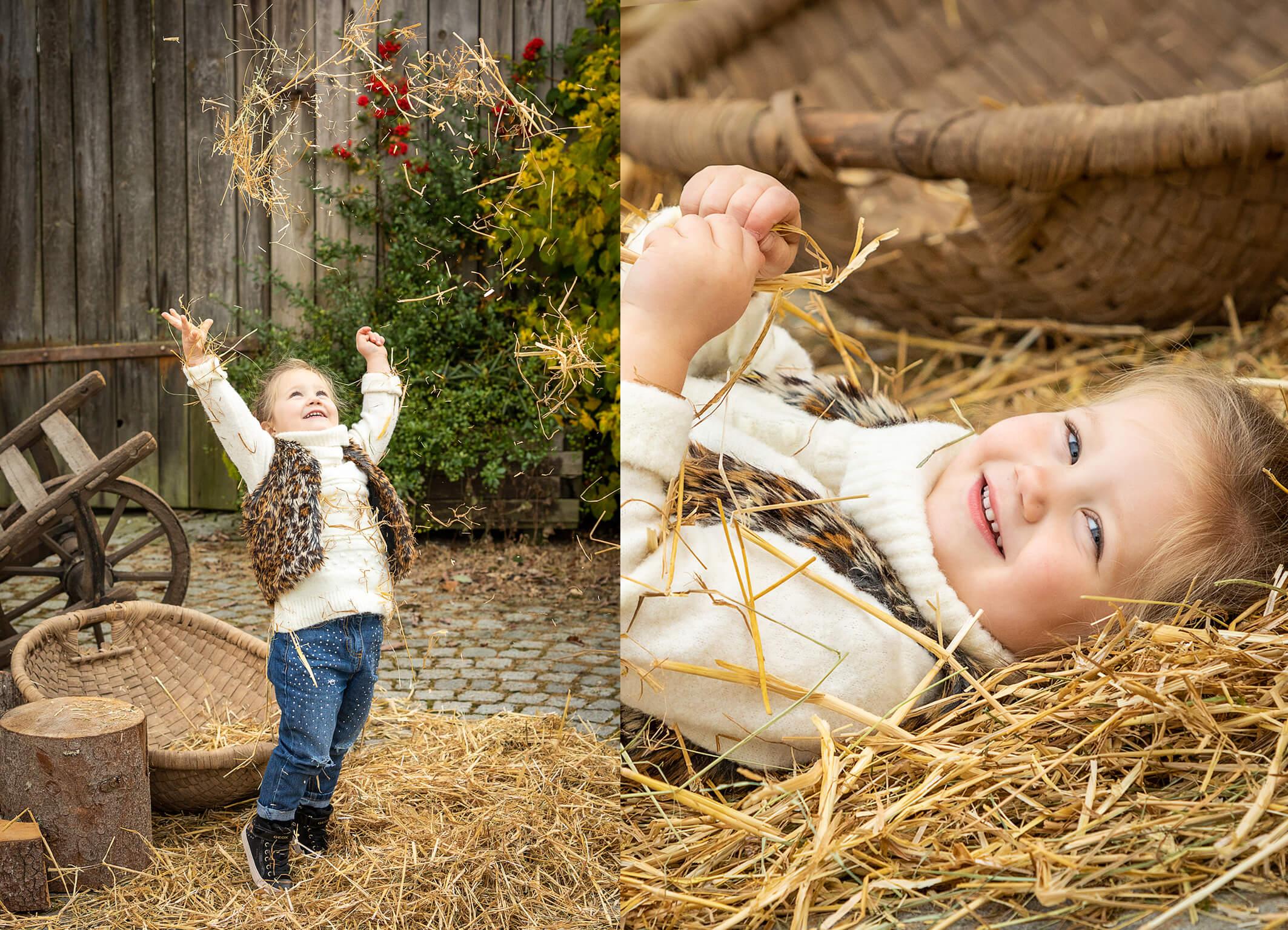 Kinderfotos am Bauernhof