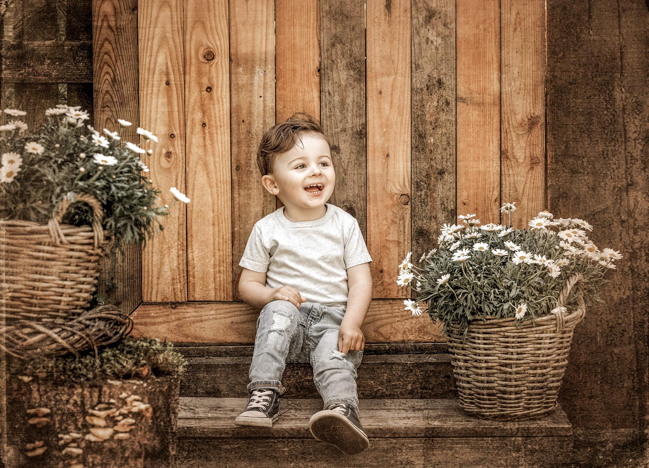 Kinderfotos im Gartenatelier